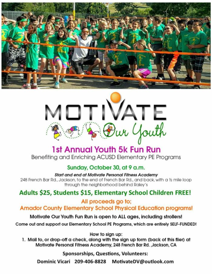 1st Annual Youth 5K Fun Run - Click For The Poster!