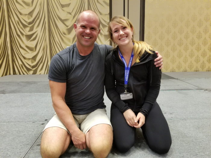 Andrea with her Idol and mobility master Kelly Starrett